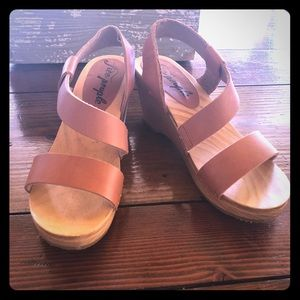Free People wooden clog sandals! NEW!